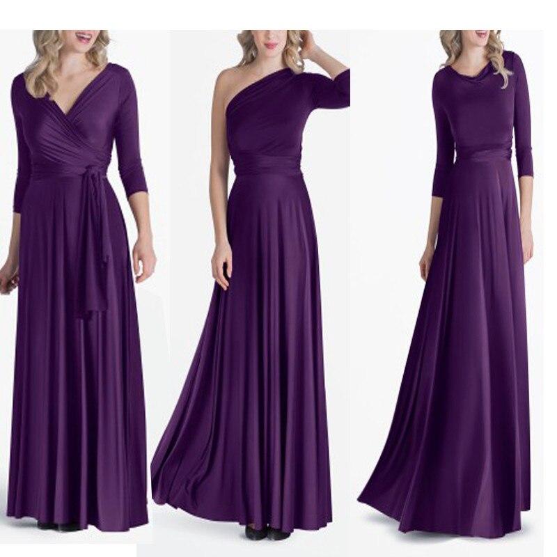 XS 3XL Maxi Dress Free Shipping Cheapest Multi Way Wraps Purple ...