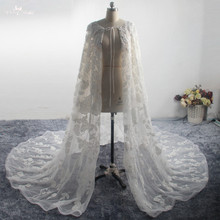 yiaibridal LZP414 Style Real Photos Long Beaded Capes White