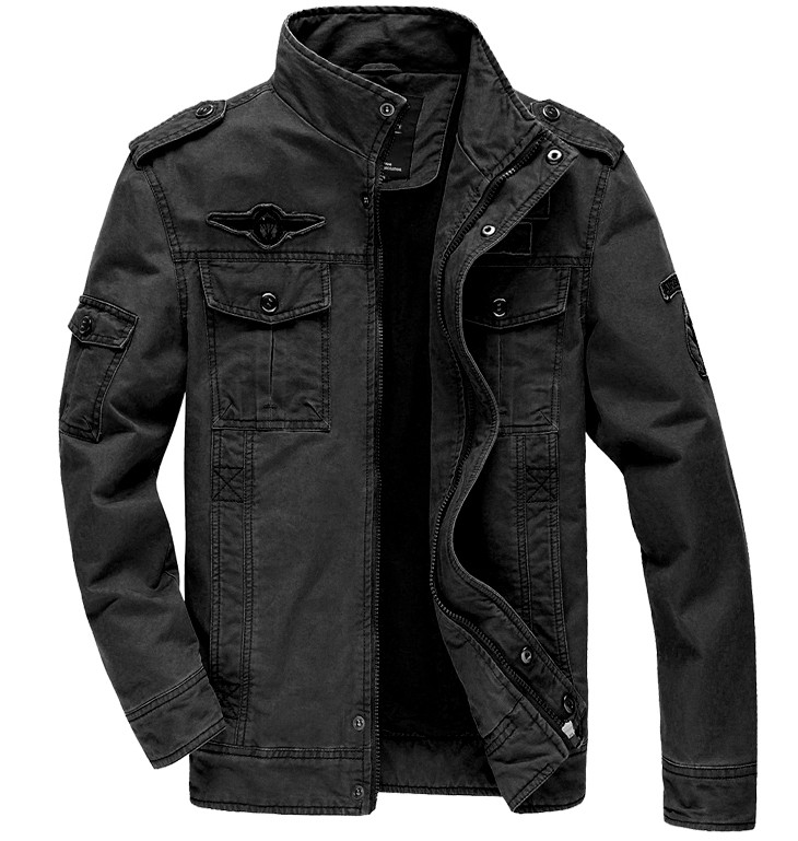 Hommes Militaire Armée vestes plus la taille 6XL Marque 2016 coût Chaude survêtement broderie mens veste pour aeronautica militare