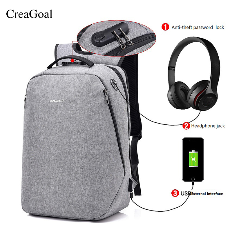 2018 New Design Men Backpacks USB Charging Anti-theft Password lock Back pack Male Casual Business Travel Security School Bags multifunction men women backpacks usb charging male casual bags travel teenagers student back to school bags laptop back pack