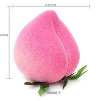Lifelike 28cm Pvc Peach Fruit Toy Simulation Food Vegetable Toy House Children's Toys Accessories Kichen Decorate Teaching Aid
