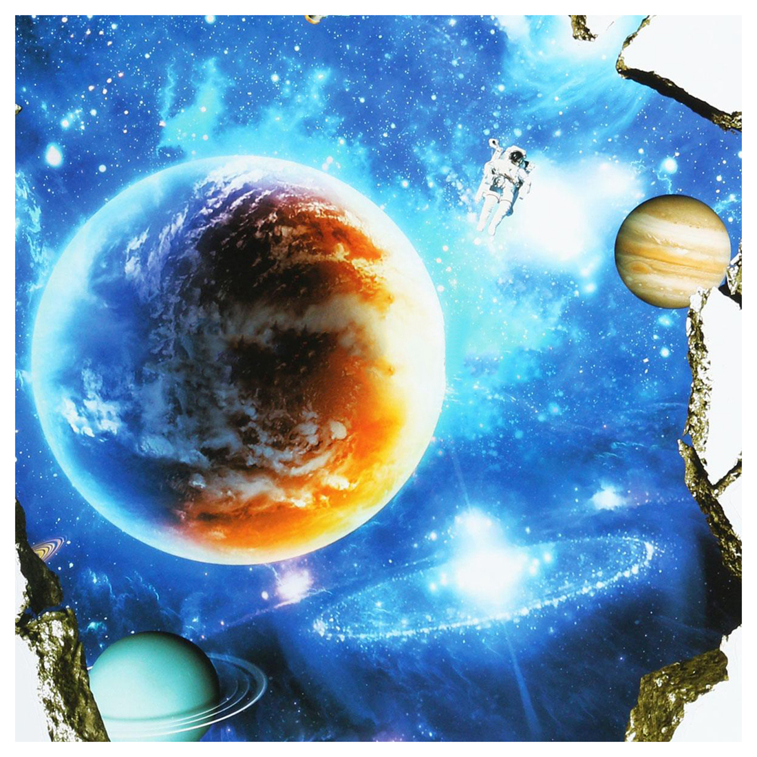 Buy 3d outer space planet wall stickers for Outer space decor