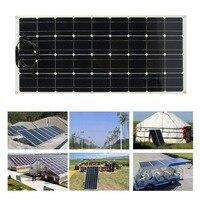 Ультра тонкий Открытый Солнечное зарядное устройство Портативный 160 Вт монокристаллическая солнечная панель гибкий Кемпинг источник пита