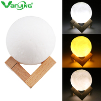 Usb Touch Light 3d Printing Moon Lamp Christmas Lighting Bedrooms Lamp Battery Powered Night Light LED