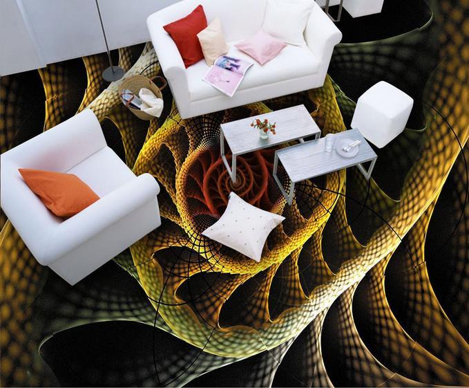 ФОТО customized 3d floor wallpaper Abstract Geometry 3d stereoscopic wallpaper 3d floor tiles pvc self adhesive wallpaper