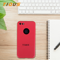 TIQUS For IPhone 7 Case Red Color TPU PC Anti Knock Protective Case For Apple Iphone