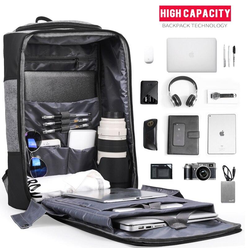 Image 4 - 17 Anti Theft Backpack Men Travel Male Laptop Bagpack Mochilas USB Charger Bag Back Pack Smart Notebook Backpacks 15.6 BusinessBackpacks   -