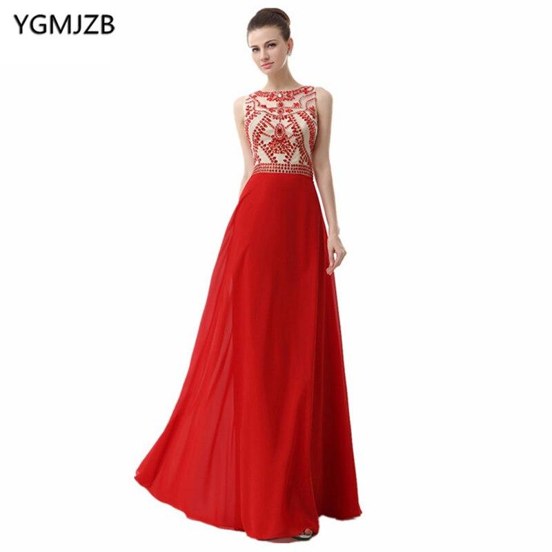 c8bcc12fcf5d3 Luxury Red Evening Dresses Long 2018 A-Line Scoop Off Shoulder ...