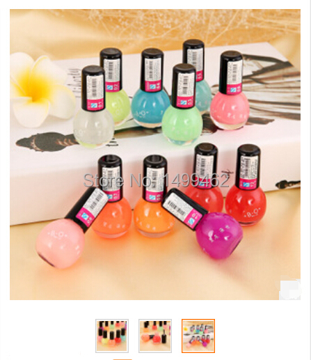 Candy Color Nail Polish: BO 12 Candy Colored Nail Polish Color Luminous Fluorescent
