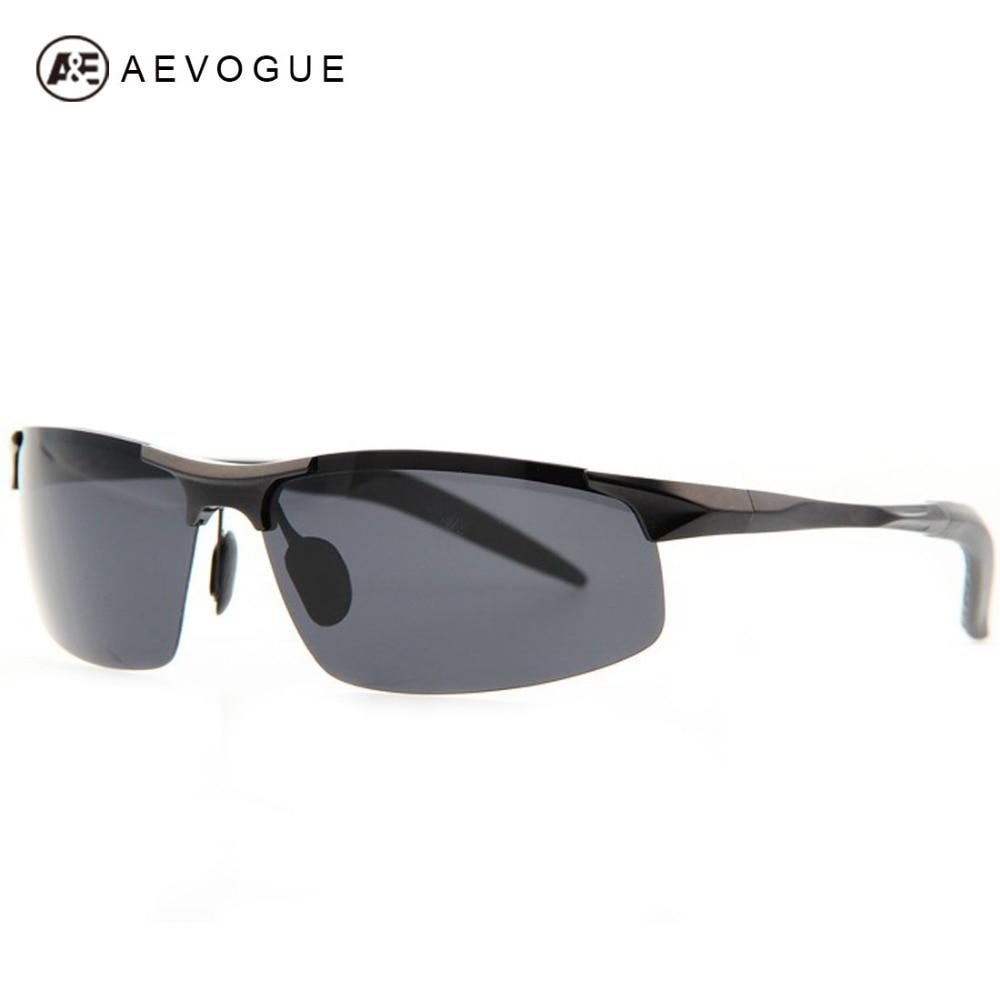 f3829a677ce AEVOUGE No Case Al-Mg Alloy Ultralight frame metal Sunglasses men brand  Polarized Sun Glasses