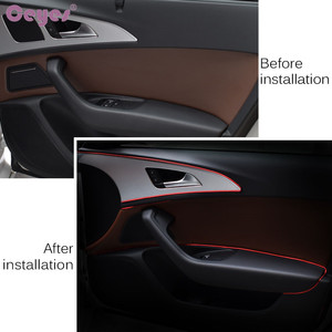 Image 5 - Ceyes 5M Car Seal Accessories Styling Interior Exterior Decoration Door Strip Moulding Trim Dashboard Edge Universal Auto Chrome
