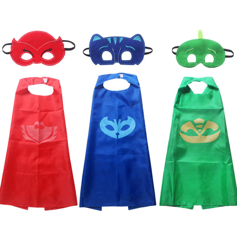 superhero cape pj masks kids halloween fancy dress character costume kit amaya conner greg dec319 - Kids Halloween Masks