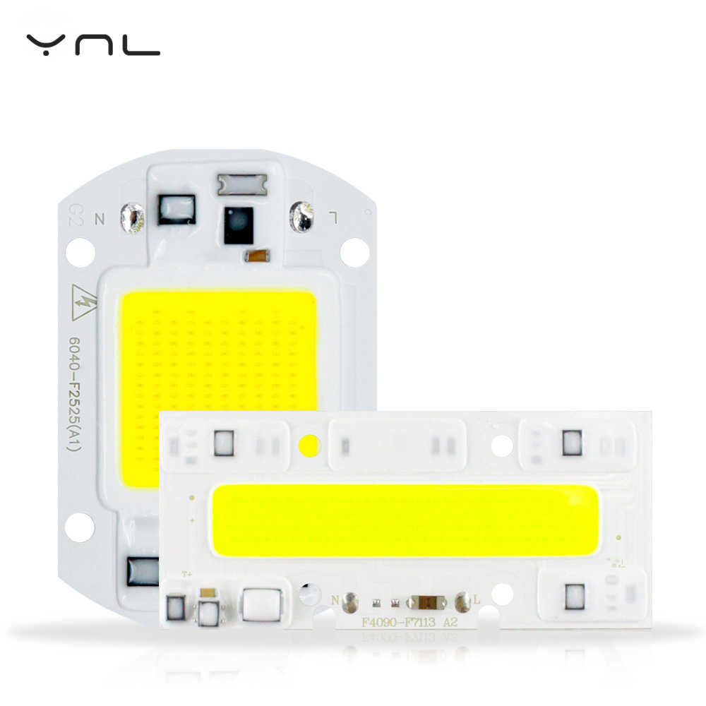 6PCS LED COB Lamp 20W 30W 50W 70 100W YXT LED Bulb Input IP65 220V DIY Smart IC COB For Outdoor LED Flood Light Not need Driver