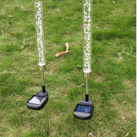 Waterproof Solar Power Tube Lights Lamps Ground Outdoor LED light Bubble Pathway Lawn Landscape Garden Stick Stake Solar lamp