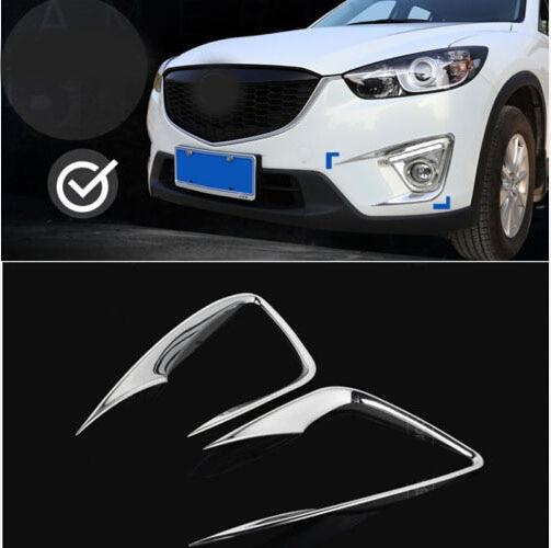 Chromed Car Head Lights Lamp Trim Fog Lamps Cover For Mazda CX-5 CX5 2012 2013 2013 2014 car front fog light eyebrow trim bumper sticker garnish decoration strips car styling for mazda cx 5 cx5 2017 2018 kf