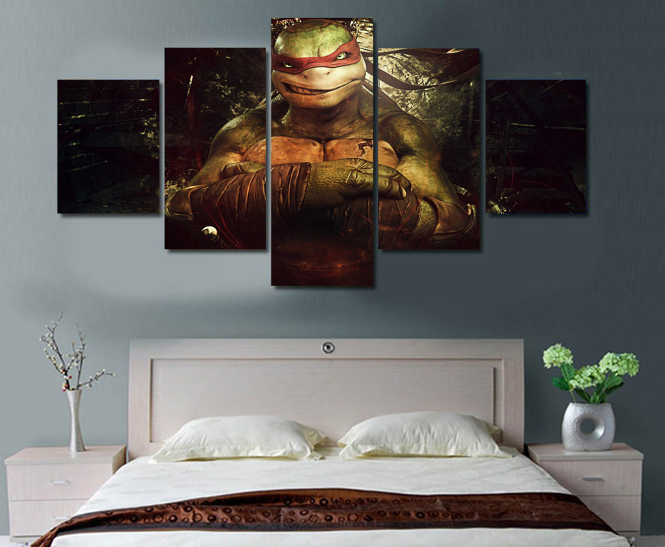 2017 New Arrival Fallout Wall Pictures For Living Room Hd Teenage Mutant Ninja Turtles Painting Canvas Print Room Decor Picture