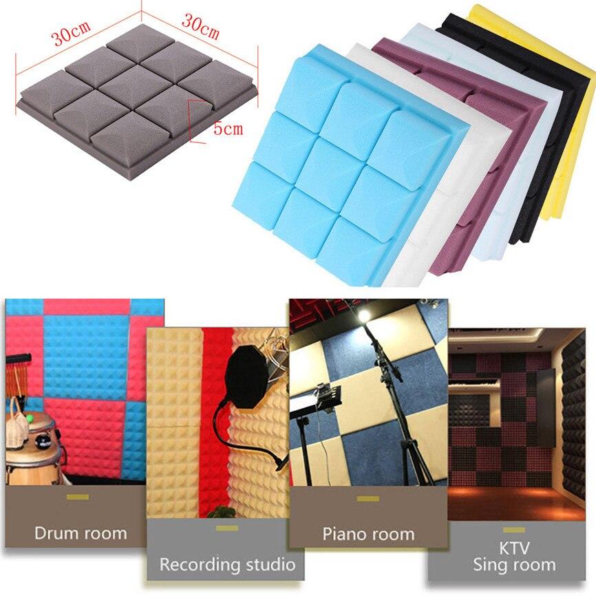 Theatre Acoustic Walls Diy Foam: Acoustic Foam Panel Sound Stop Absorption Sponge Studio