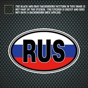 Image 3 - SLIVERYSEA Creative RU Flag Russia Sticker Reflective Decal Car Sticker