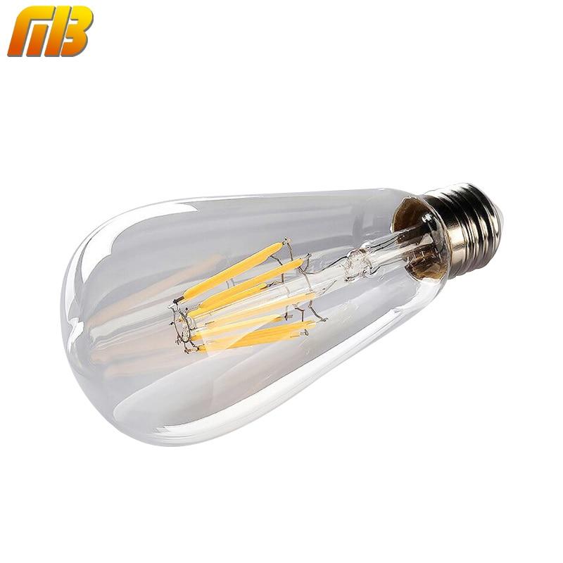[MingBen] Retro LED Filament Bulb Dimmable ST64 E27 4W 8W 220V No Flicker Replace Edison Bulb Smart IC Driver Energy Saving Lamp