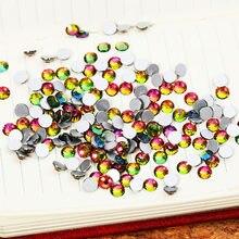 1000 Rainbow pçs/saco ss3-ss10 ss4 Prego Gemas Misturadas enfeites de para unha Unhas Strass arte do prego strass ss16 Mista