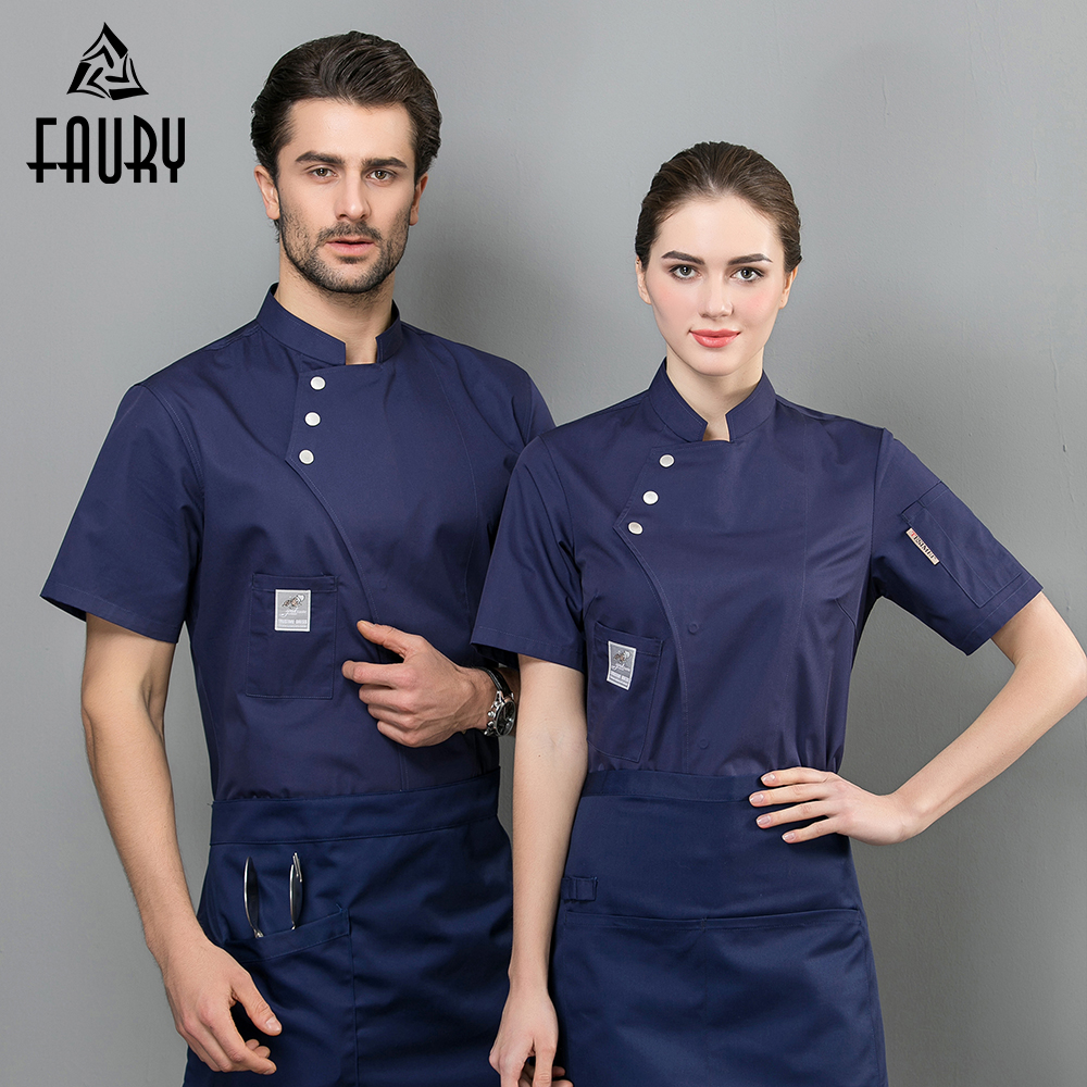 Chef Jacket Summer Cool Uniform Workwear Waiter Waitress Overalls Kitchen Baking Catering Hotel Dining Hall Buffet  Work Clothes