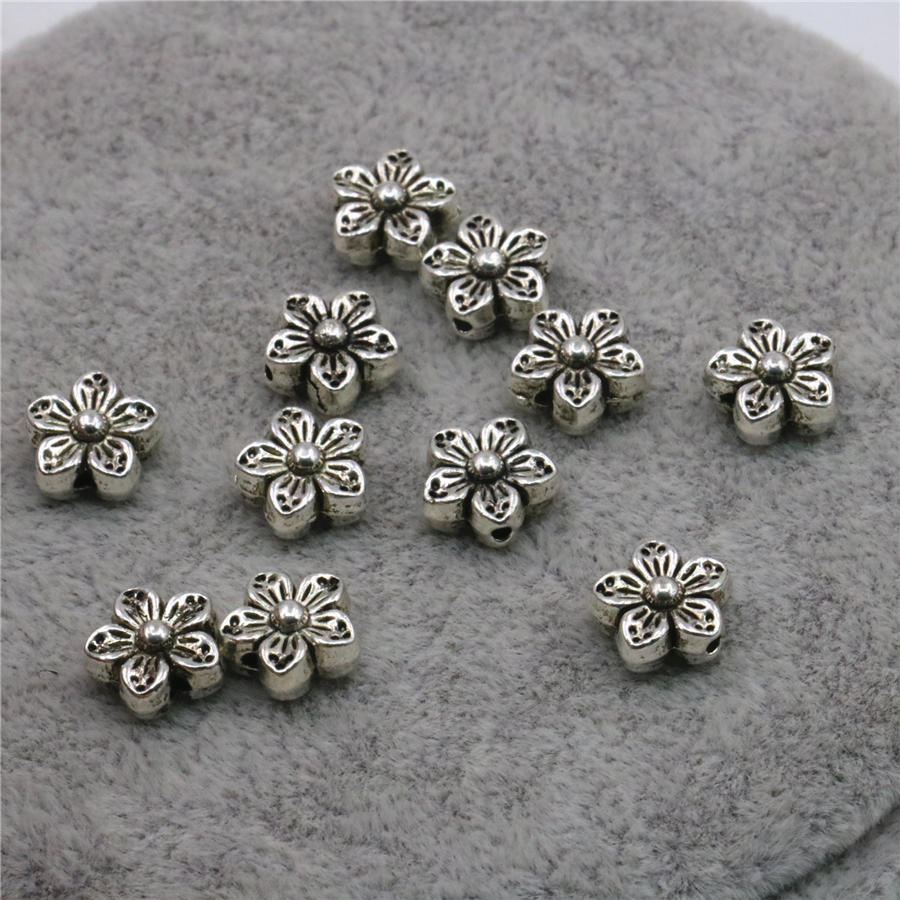 Unique Novelty Highquality Accessory Flower Shape 10pcs Metal Copper  Crafts Diy Loose Jewelry Findings