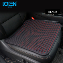 LOEN 1PC Car Seat Covers Polyester Breathable Cushion 4 Seasons Healthy Pad Auto Accessories Winter Styling for Toyota