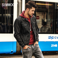 SIMWOOD New Autumn Winter Denim Jacket Men Fashion Casual streetwear Plus Size Brand jacket High Quality Free Shipping NK017010