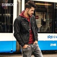 SIMWOOD New Autumn Winter Denim Jacket Men Fashion Casual Streetwear Plus Size Brand Jacket High Quality