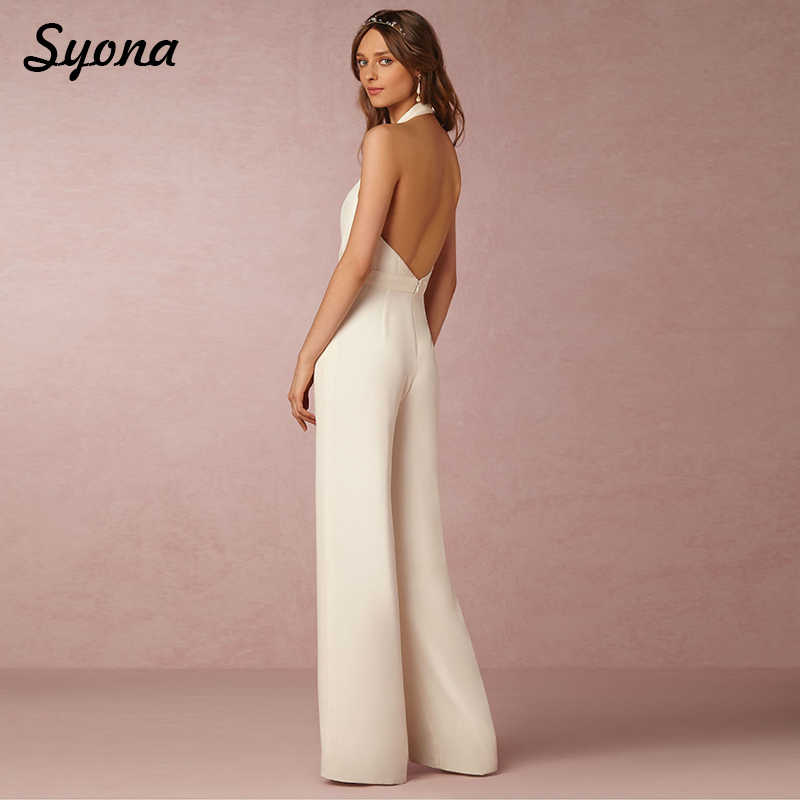 ca35a0bb4af4 ... 2018 Casual Sexy ROMPERS WOMENS JUMPSUIT Halter V Neck Elegant Wide Leg  Pants Loose Ladies Overalls ...