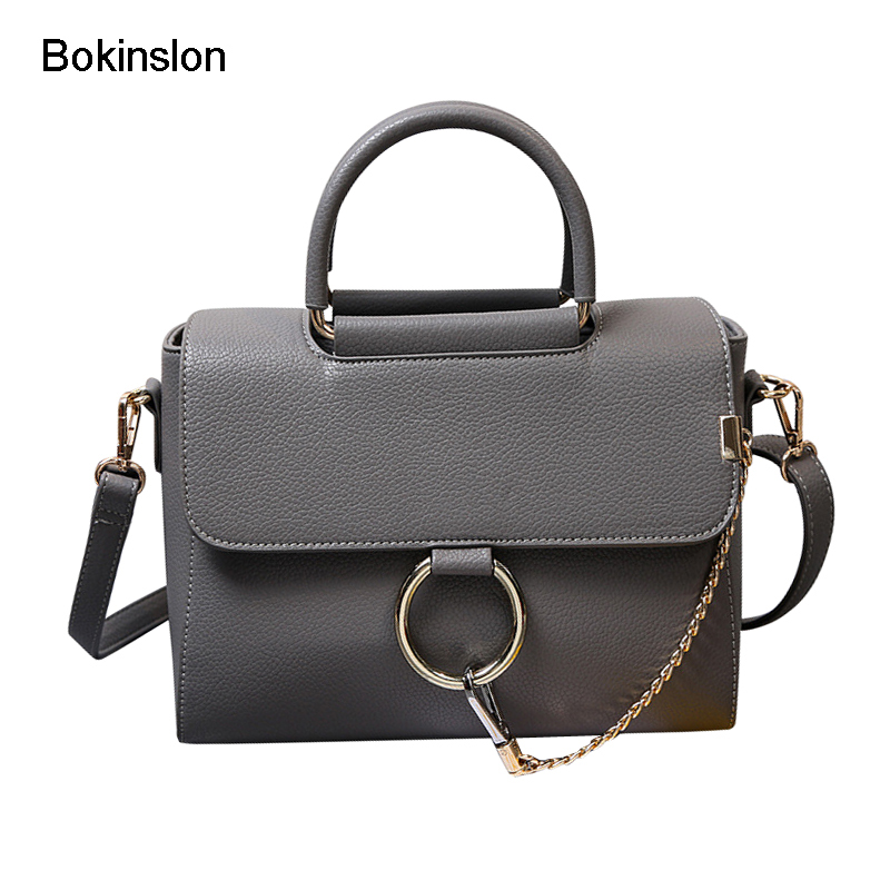Bokinslon Shoulder Small Square Bags Woman Split Leather Fashion Women Handbags Simple Solid Color Female Crossbody Bag swdf 2017 new crossbody bag woman pu leather retro women shoulder bags casual fashion female small square bags mobile phone bag
