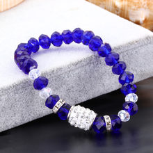 Vintage Beaded Bracelets For Women Bracelets With Colorful Crystal Shambhala Beads Fit Pan Bracelets Handmade DIY Jewelry Gifts(China)
