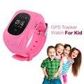 Novo Telefone Do Relógio Inteligente Crianças Kid relógio de Pulso Q50 GSM GPRS Localizador GPS Tracker Criança Guarda de alarme Anti-Perdida Smartwatch para iOS Android