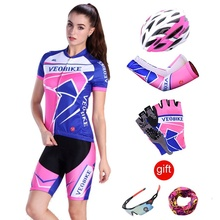 2018 Outdoor Sports Women Cycling Jersey Short Set Team Pro Bicycle Clothing MTB Mountain Bike Clothes Ladies Cycle Wear Summer