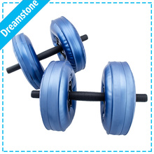 free shipping body building adjustable water dumbbell safe female dumbbell Water-filled lose weight dumbbell portable equipment