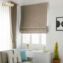 Современные хлопковые/льняные фарбические индивидуальные римские жалюзи римские шторы для гостиной окна шторы с бесплатной доставкой