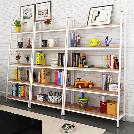 Bookcases Living Room Furniture Home Panel Steel Five Layer Bookcase Bookshelf Hot New