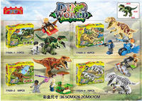 4pcs/set War City series Jurassic World 2 Dinosaurs Building fIgtherTyrannosaurus Assemble Blocks Toy Compatible with Legoings