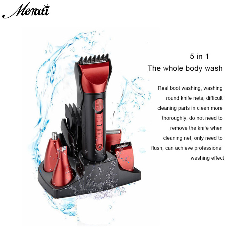 Washable Rechargeable Electric Shaver Floating with Nose Hair Trimmer Razor Professional Shaver Shaving 1set kairui rechargeable tri floating loop speed foil shaver razor w trimmer ac 220v