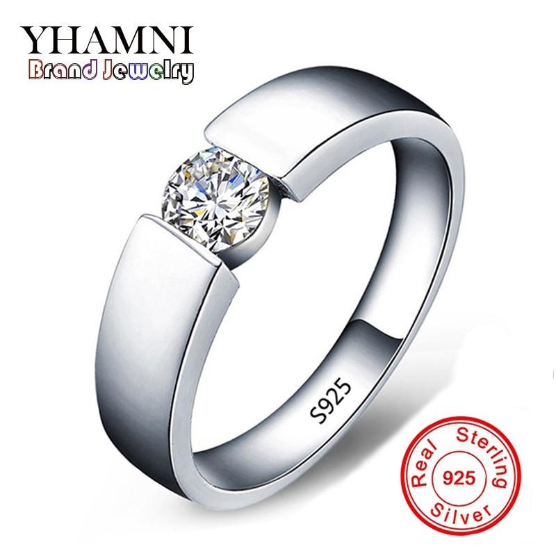 70dab88644b6 Enviar CERTIFICADO DE PLATA! 100% original anillo de plata sólida hombres  joyería Sona CZ Diamant compromiso marca boda Anillos para hombres AD10