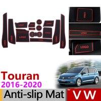 Anti Slip Gate Slot Mat Rubber Cup Mats for VW Touran 2016 2017 2018 2019 2020 Volkswagen Touran MK2 Accessories Car Stickers