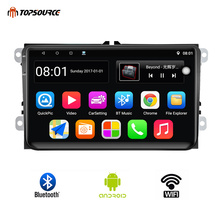 TOPSOURCE Car Radio 9001RDS 2 Din 9 Inch Android GPS Wifi Multimedia Player For VW/Volkswagen/POLO/PASSAT/Skoda/Seat/Fabia