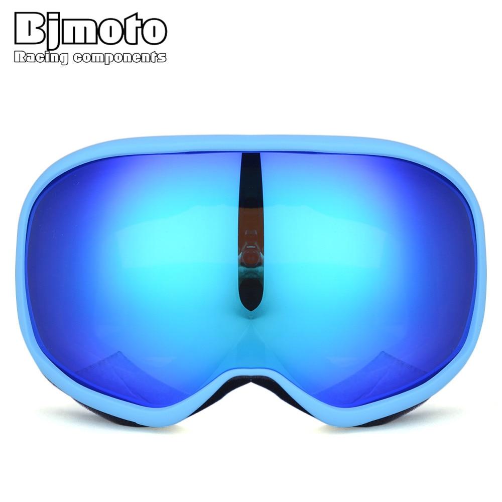 BJMOTO New Arrival Double lens Sport Racing Snowboard Ski Motocross Goggles Glasses for Dirt Bike Skiing Snowmobile Helmet