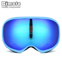 BJMOTO New Arrival Double lens Sport Racing Snowboard Ski Motocross Goggles Glasses for Dirt Bike Skiing Snowmobile Helmet