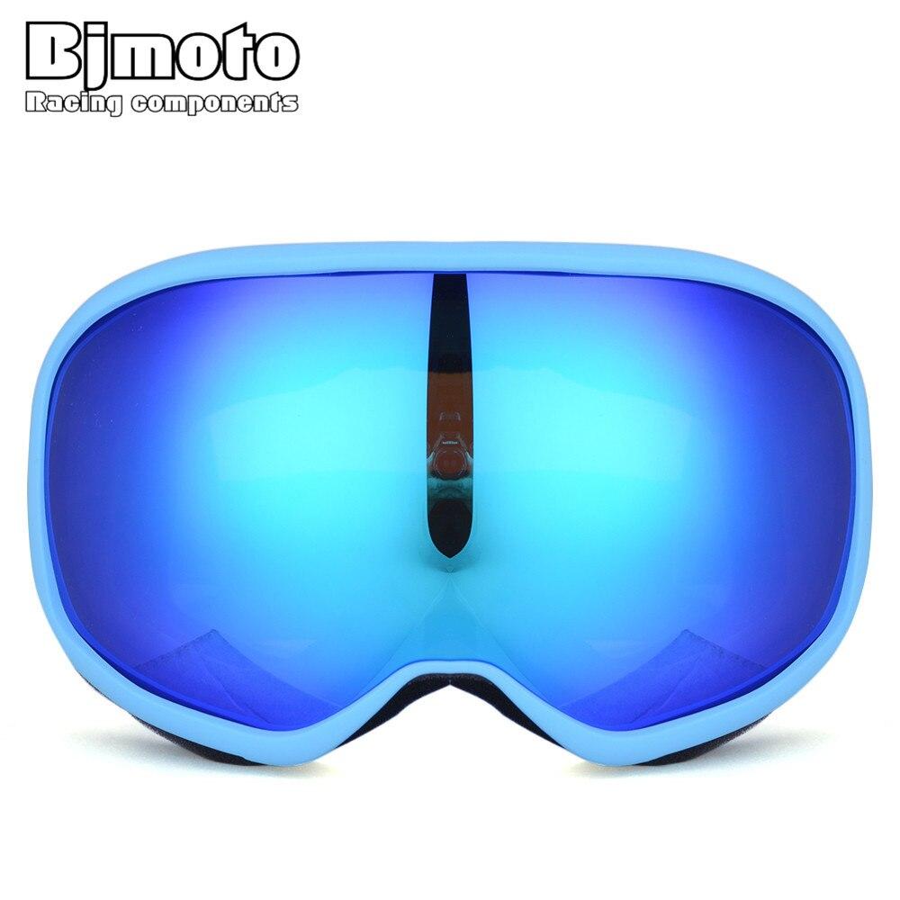Bjmoto Новое поступление двойные линзы гонки Сноуборд горнолыжные мотокросс очки для Байк Лыжный Спорт снегоход шлем