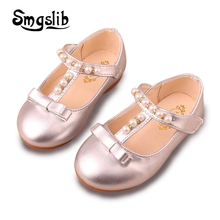 Girls Shoes Kids Leather Shoes Children Summer Autumn Beading Fashion Princess Sandals Baby Toddler Shoes Flat Single Sandals 2017 summer girls sandals children princess shoes for party wedding dress dance kids toddler shoes baby flat sandals