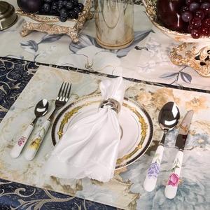 Image 3 - 24個ステンレス鋼食器セット高級銀器食器西洋鏡面研磨カトラリーセットのギフトボックスパーティー