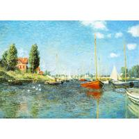 High Quality Handmade Landscape Oil Painting On Canvas Red Boats At Argenteuil C Claude Monet Home