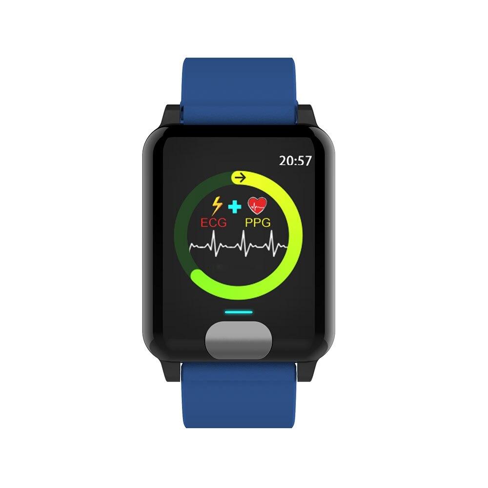 KISSCASE montre intelligente 3D dynamique fréquence cardiaque électrocardiogramme pression artérielle Bluetooth Bracelet avec Bracelet Sprots écran LED - 6