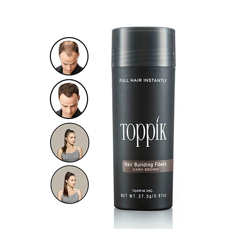 Волос Истончение лечение 27,5 г Toppik волокно волоса кератин Fibre белки спрей для укладки порошок спрей для волос аппликатор